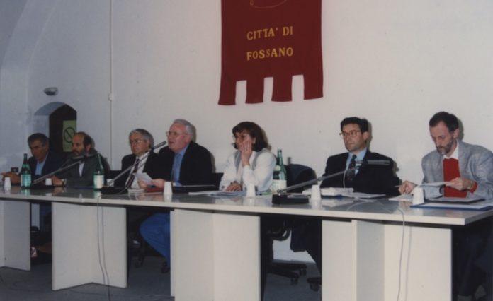 Beppe Manfredi e la giunta consiglio comunale maggio 1995