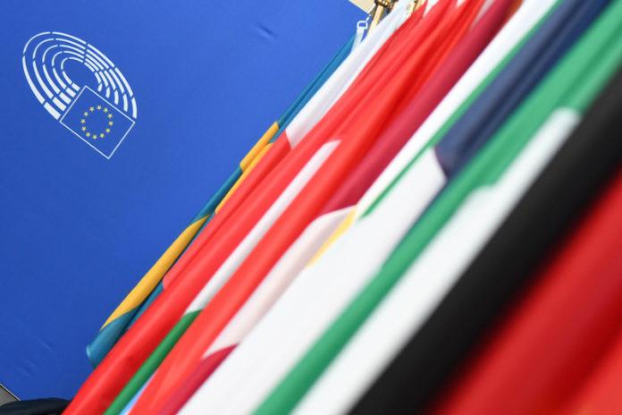 bandiere europee a Strasburgo