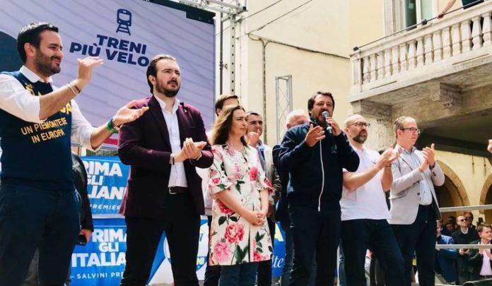 Comizio di Matteo Salvini a Fossano