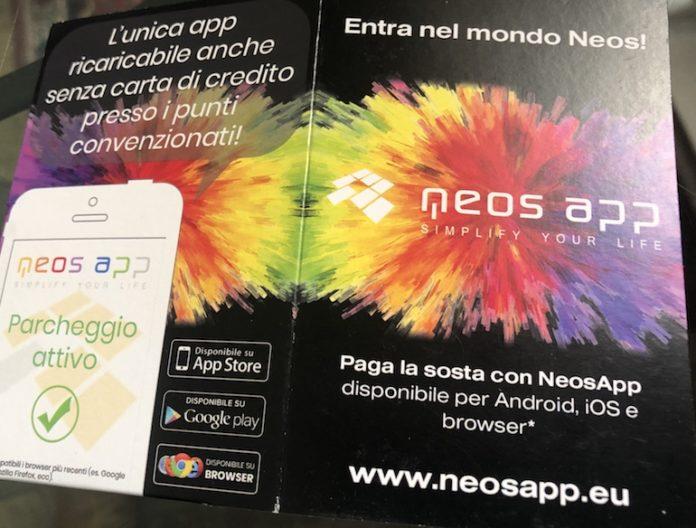 La brochure del nuovo servizio Neos App