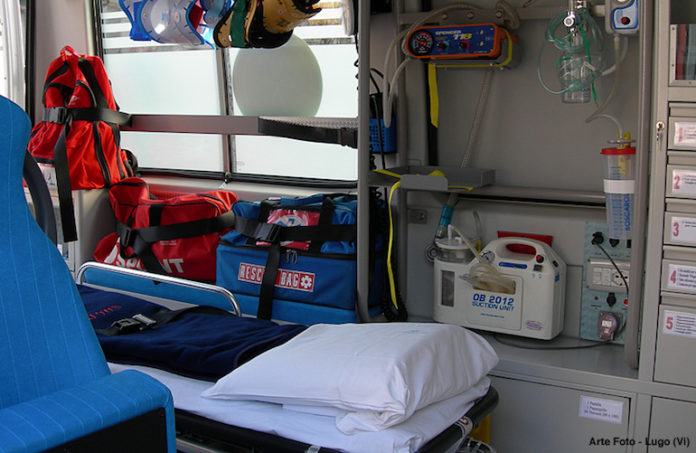 L'interno di un'ambulanza