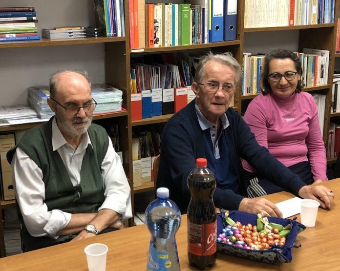 don Franco Milanesio e don Luigi Bruno nella sede del Centro Missionario diocesano