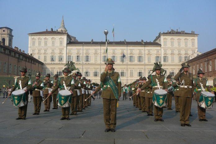 La fanfara della Brigata alpina Taurinense