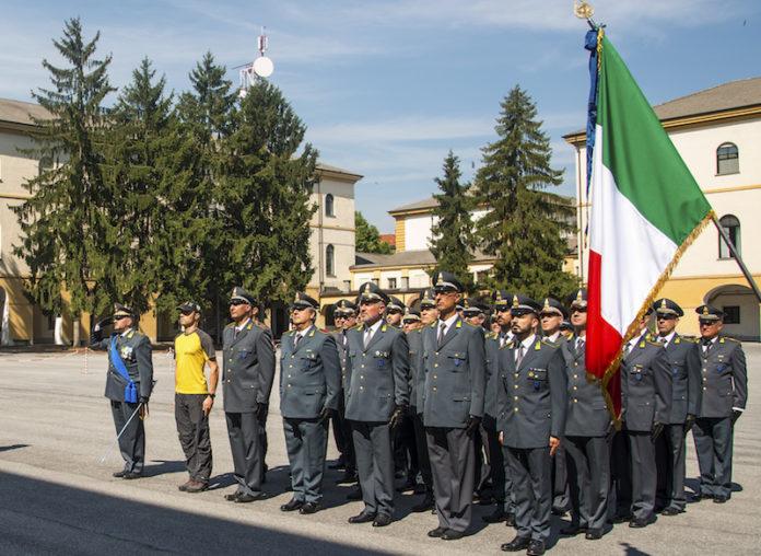Cerimonia, al Comando cuneese, della Guardia di finanza, per i 245 anni dalla fondazione del corpo