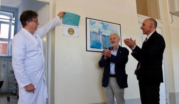 Il nuovo locale, all'ospedale di Fossano, con attrezzature e arredi donati dalla Soms per la riabilitazione