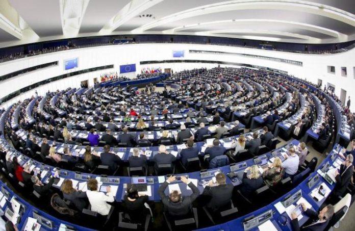L'emiciclo del Parlamento Europeo a Strasburgo
