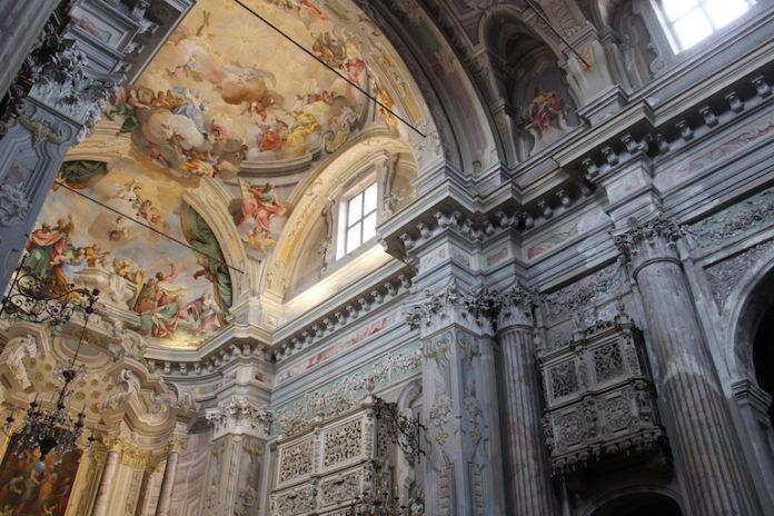 L'abside della chiesa di San Filippo a Fossano dopo il restauro