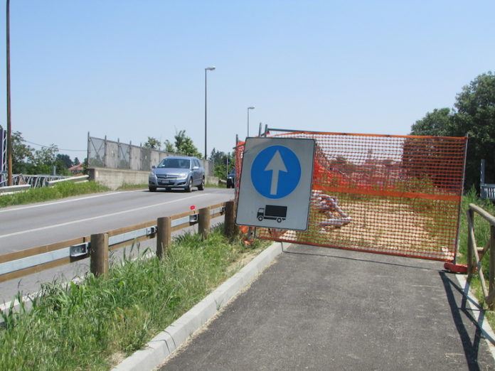 Fossano, la pista ciclabile di via Torino