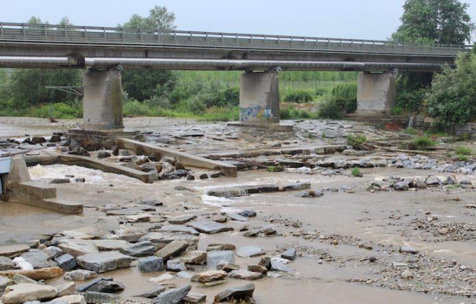 Il fiume Stura nella zona di Fossano