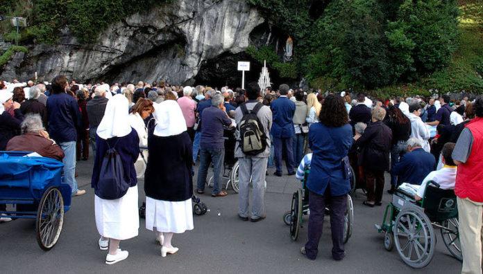 Lourdes, settembre 2005, pellegrinaggio nazionale dell'Unitalsi