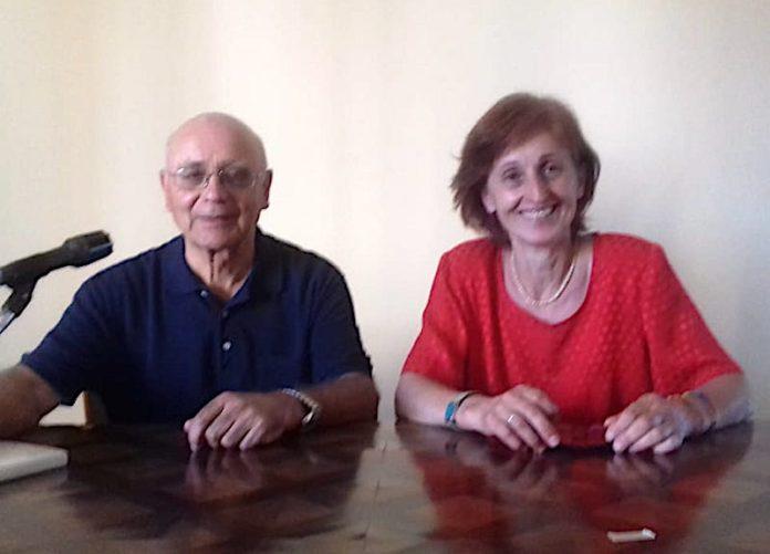 Don Guido Revelli direttore dell'Ufficio Scuola e Rosita Tallone