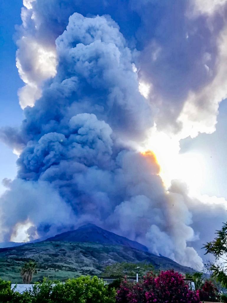 Stromboli eruzione vulcano - testimonianza del fossanese Mauro Gelli