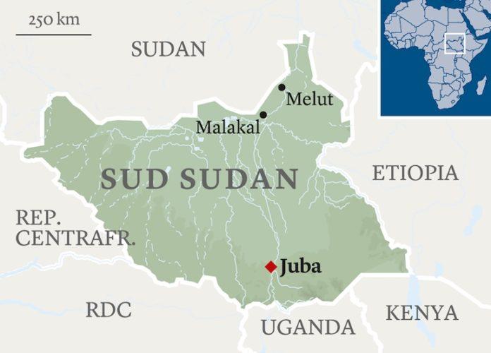 Cartina del SudSudan