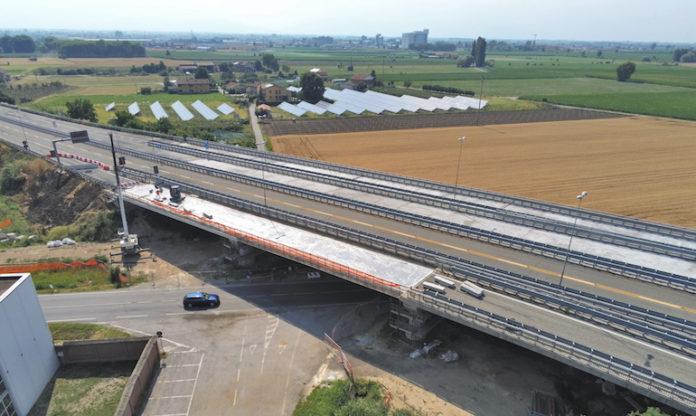 tangenziale lavori al ponte di via Marene