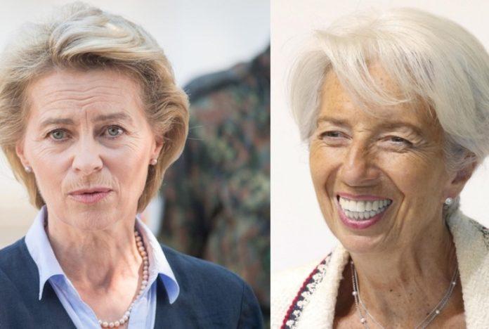 Ursula Von Der Leyen e Christine Lagarde