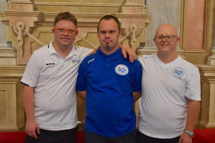 I tre atleti della nazionale italiana Fisdir