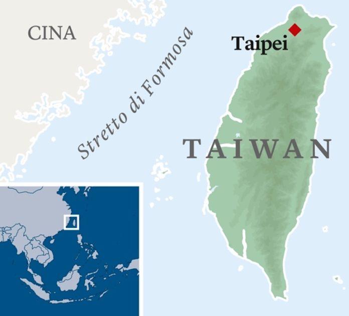 cartina geografica di Taiwan