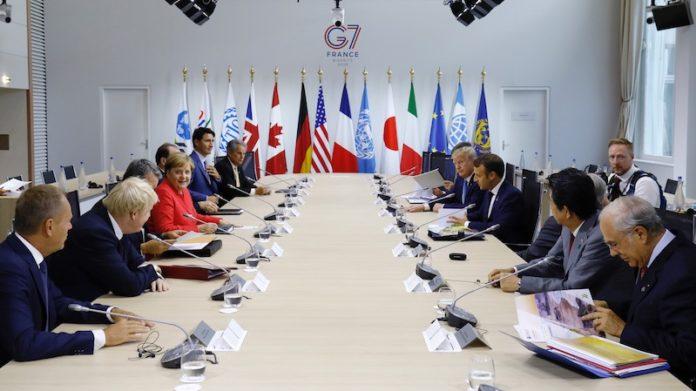La delLa riunione dei G7 svoltasi a Biarritz, Francia (24-26 agosto)