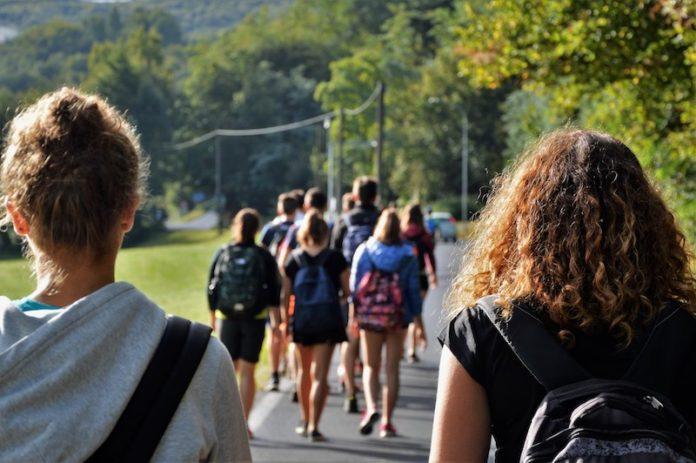 Giovani in cammino nell'edizione 2018