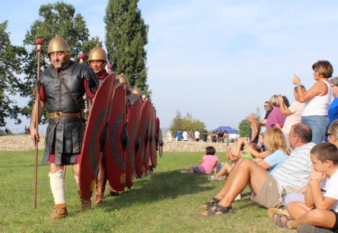 Un momento della ricostruzione storica dedicata all'Augusta bagiennorum