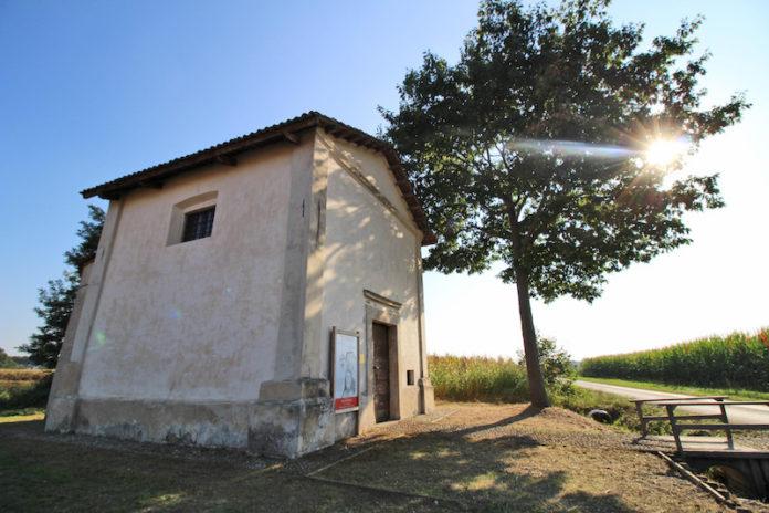 L'antica cappella della Croce di San Giovenale sulla strada per Gerbo