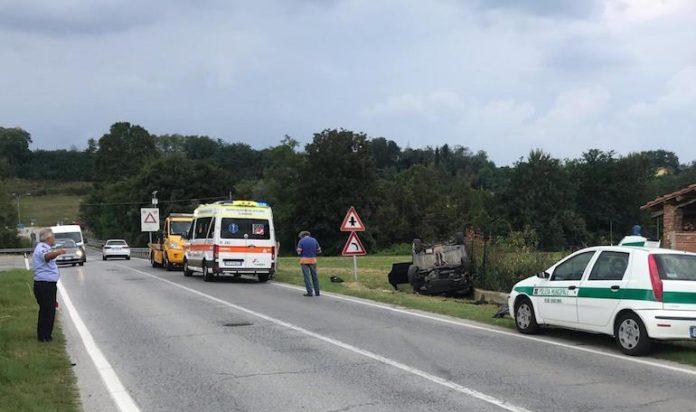 L'incidente a Bene Vagienna in via Fossano