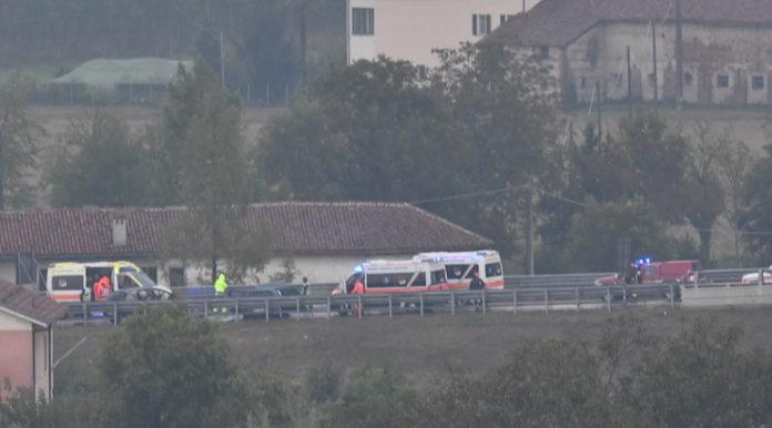 L'incidente sul Raccordo autostradale della A6
