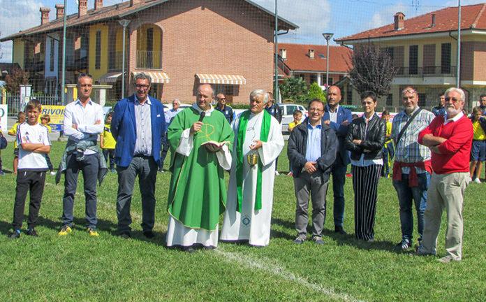 L'inaugurazione del campo da calcio di Cussanio, ora sotto la gestione del Salice