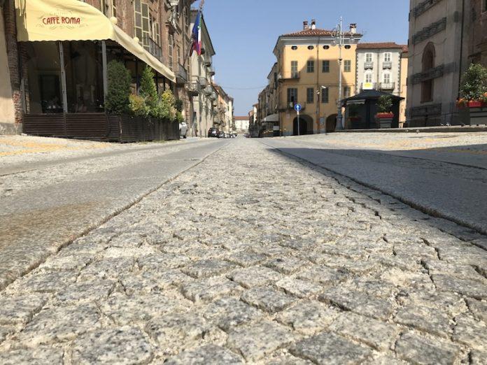 Via Roma pavimentazione