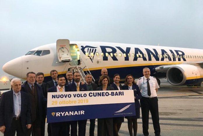 La presentazione del volo Cuneo-Bari