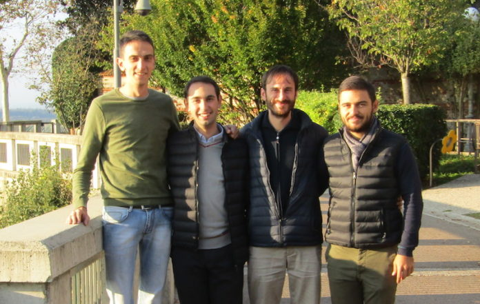 I quattro seminaristi del Seminario Interdiocesano di Fossano