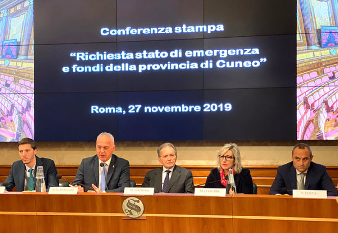 La conferenza stampa in Senato