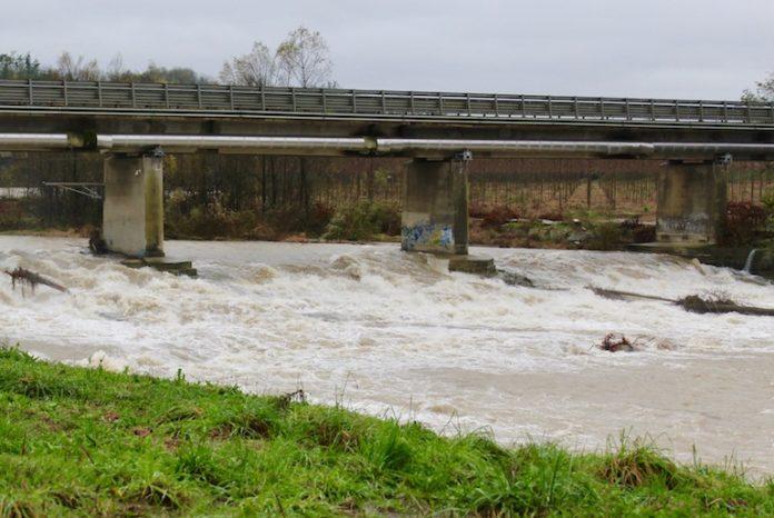 Il fiume Stura a Fossano
