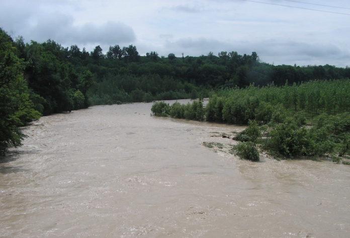 Il fiume Stura in piena