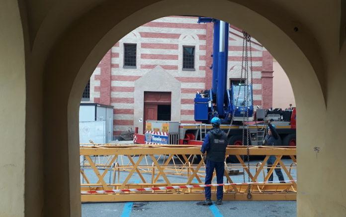 iniziano i lavori di restauro alla vecchia chiesa del salice