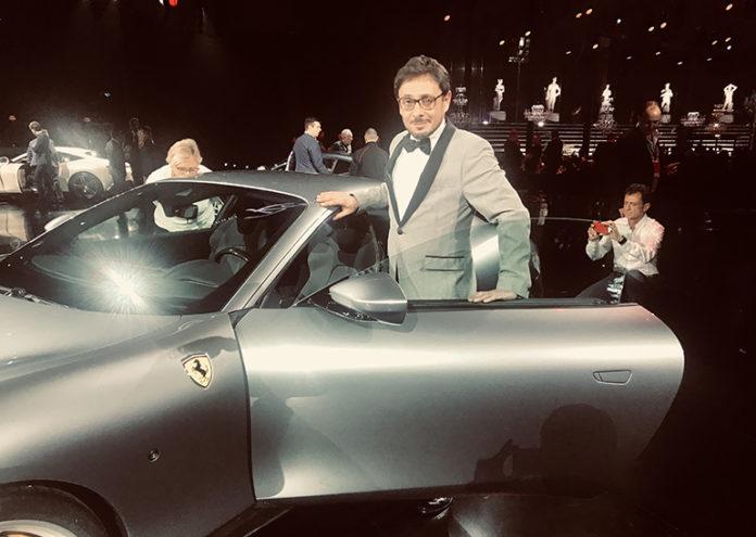 Matteo Brancaleoni alla presentazione della nuova Ferrari