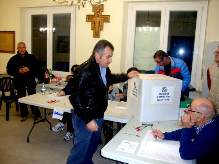 il momento del voto al borgo Salice nel 2014