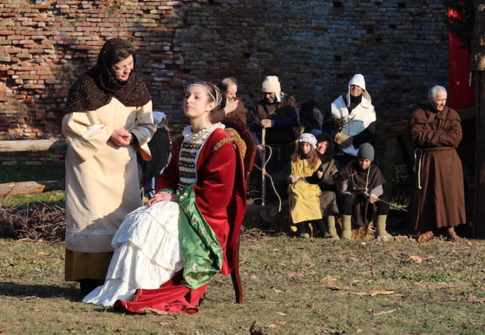 Un momento della rievocazione storica dedicata alla beata Paola