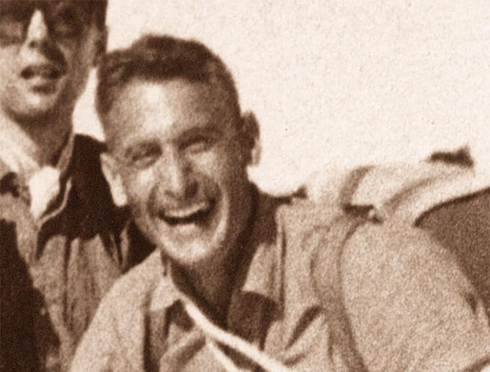 Carlo Palestrino sull'Allalinhorn (nel 1964)