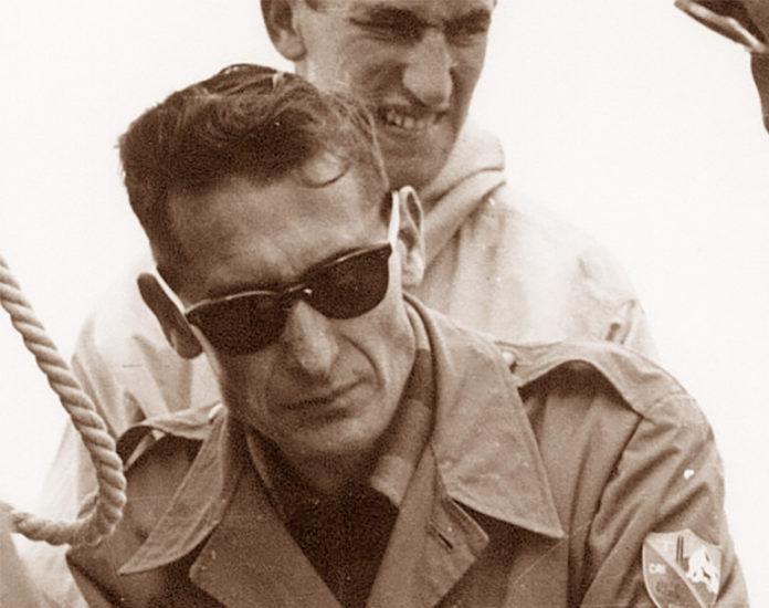 Carlo Palestrino sulla cima della Maledia (settembre 1954)