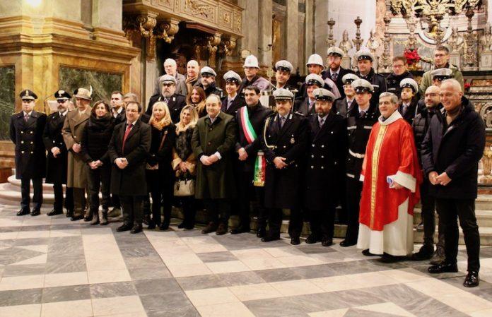 La Polizia locale di Fossano durante la festa di San Sebastiano