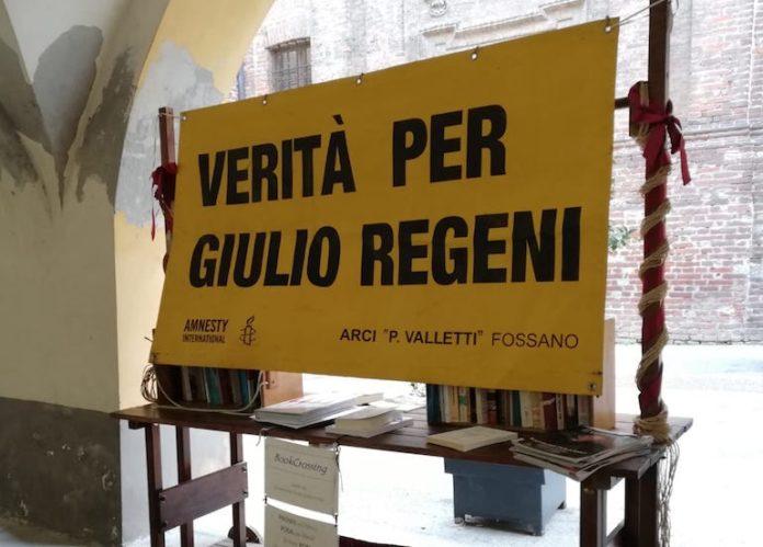 Arci Fossano striscione per Giulio Regeni