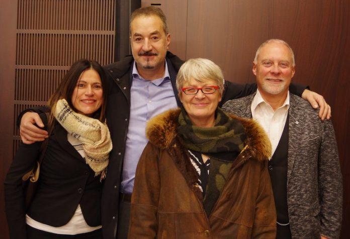 La segreteria Cisl di Cuneo con Annamaria Furlan