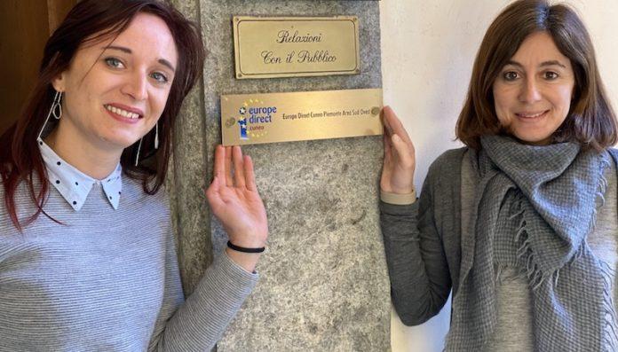 Francesca Cavallero e Francesco Attendolo - Europe Direct Cuneo