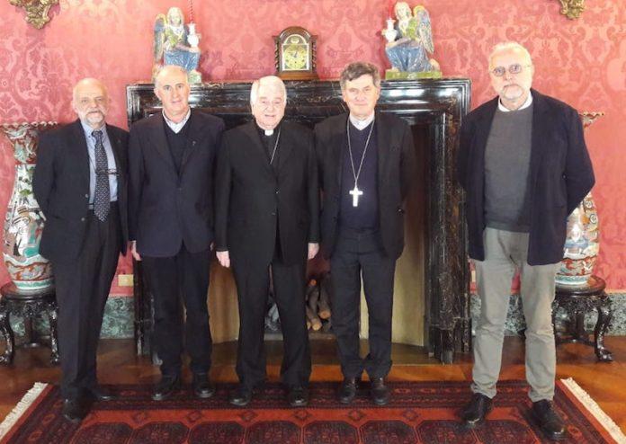 I delegati delle diocesi di Cuneo e Fossano con il vescovo incontrano il Nunzio apostolico in Italia mons. Emil Paul Tscherring