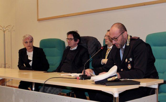 La Polizia locale dell'Unione del Fossanese durante la presentazione dell'attività nel 2019