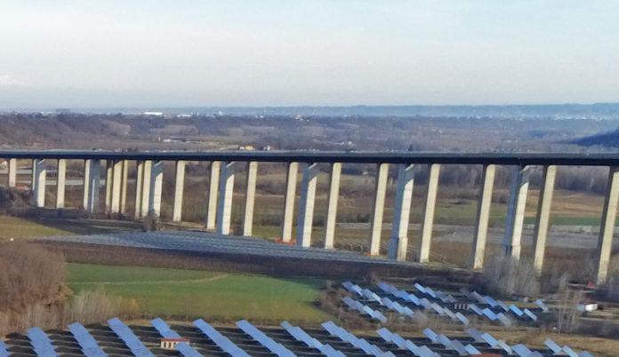 Il viadotto Stura sull'Autostrada Torino Savona