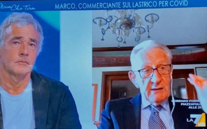 Il banchiere fossanese Beppe Ghisolfi si confronta con Massimo Giletti