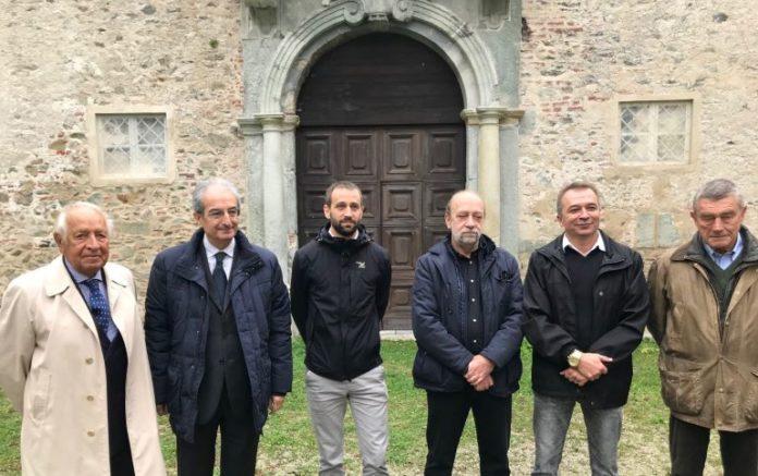 Un sopralluogo del consigliere regionale Bongioanni al castello di Valcasotto