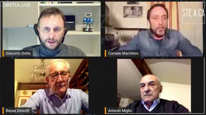 Cervere Coronavirus Diretta Facebook Ghisolfi Miglio Marchisio